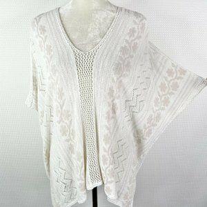 Club Monaco Top White Crochet Embroidered XS / Sma